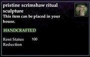 Scrimshaw Ritual Sculpture