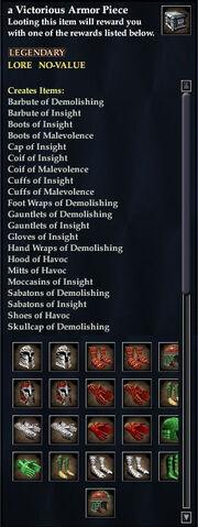 A Victorious Armor Piece (Storm Gorge)