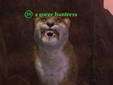 A gorge huntress