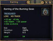 Earring burning seas