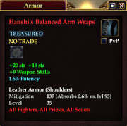 Hanshi's Balanced Arm Wraps