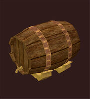 Iron-bound-maple-keg