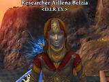 Researcher Aillena Belzia (Tranquil Sea)