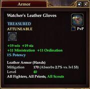 Watcher's Leather Gloves