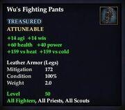 Wu's Fighting Pants