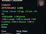 Yelinak's Talisman (Wrist)