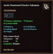 Arctic Frostwind Oracle's Sabatons