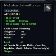 Black ebon chainmail bracers