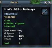 Brink's Stitched Footwraps