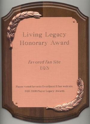 EQ2i FanFaire 2008 award