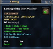 Earring of the Inert Watcher