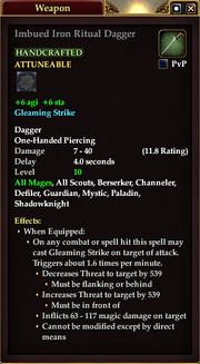 Imbued Iron Ritual Dagger