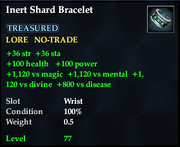 Inert shard bracelet