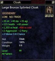 Large Bronze Splinted Cloak
