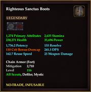 Righteous Sanctus Boots