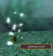 A glinting crystal