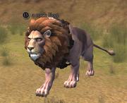 A rock lion