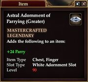 Astral Adornment of Parrying (Greater)