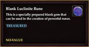 Blank Luclinite Rune