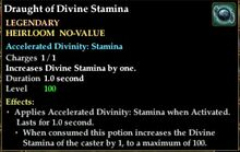 Draught of divine stamina