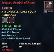 Focused Symbol of Rime