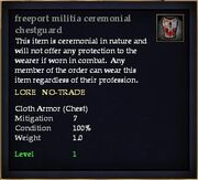 Freeport militia ceremonial chestguard