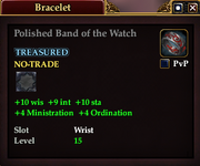 Polished Band of the Watch