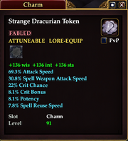 Strange Dracurian Token