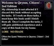 Welcome to Qeynos, Citizen! - 2nd Edition