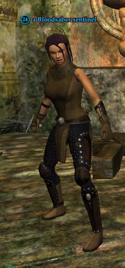 A Bloodsaber sentinel (human)