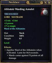 Abbatoir Warding Amulet