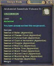 Alchemist Essentials Volume 31