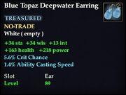 Blue Topaz Deepwater Earring