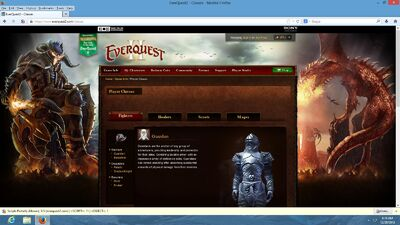 Character Classes SOE Website