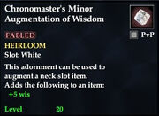 Chronomaster's Minor Augmentation of Wisdom