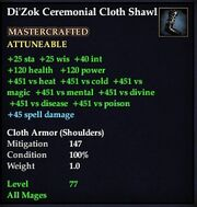 Di'Zok Ceremonial Cloth Shawl