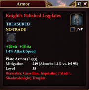 Knight's Polished Legplates