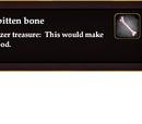 Large frostbitten bone