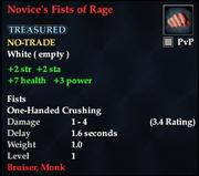 Novice's Fists of Rage
