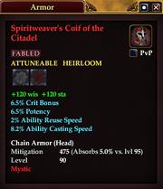 Spiritweaver's Coif of the Citadel