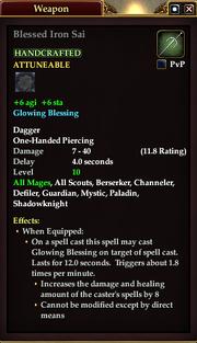 Blessed Iron Sai