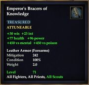 Emperor's Bracers of Knowledge