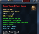 Flame Tanned Chest Guard