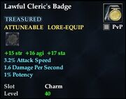 Lawful Cleric's Badge