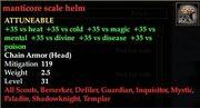 Manticore scale helm