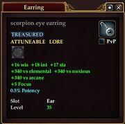 Scorpion eye earring