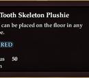 Bloody Tooth Skeleton Plushie