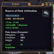 Bracers of Dark Arbitration
