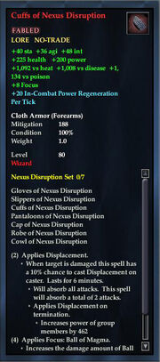 Cuffs of Nexus Disruption
