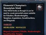 Elemental Champion's Breastplate Mold